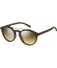 Marc Jacobs Marc-107 s n9p gg mate Habana gafas de sol de espejo de plata