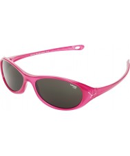 Cebe Gecko (edad 5-7) de color rosa brillante translúcido 2000 gafas de sol grises