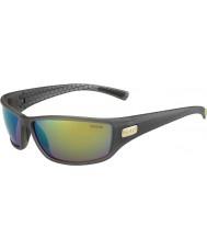 Bolle Python humo mate gafas de sol polarizadas esmeralda verde marrón