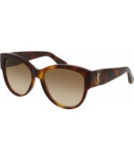 Saint Laurent Ladies sl m3 005 55 gafas de sol