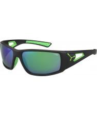 Cebe Sesión 1500 de color gris verde negro espejo gafas de sol verdes