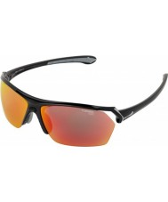 Cebe Wild gafas de sol de múltiples capas negro brillante
