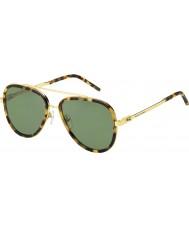 Marc Jacobs Mens orujo 136-s lsh dj vio las gafas de sol de oro Habana