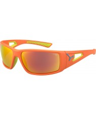 Cebe cal naranja sesión de 1500 gafas de sol de espejo gris naranja