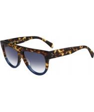 Celine Damas cl 41026-s fu9 dv tortuga gafas de sol azules