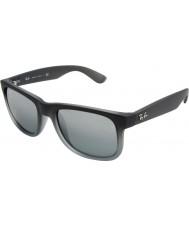 RayBan Rb4165 55 justin gris de goma 852-88 gafas de sol