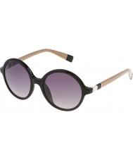 Furla Señoras lola su4966-700y gafas de sol negros brillantes