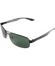 RayBan Rb8316 62 tecnología de fibra de carbono negro verde gafas de sol polarizadas 002-N5