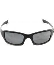 Oakley Oo9238-06 cinco cuadrado negro pulido - iridio negro gafas de sol polarizadas