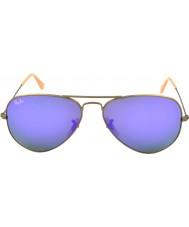 RayBan RB3025 58 de metal grandes gafas de sol de aviador cepillado 167-1m bronce