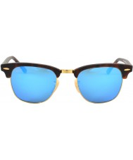 RayBan Rb3016 clubmaster concha de arena - espejo azul