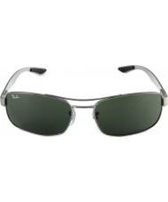 RayBan Rb8316 62 tecnología de fibra de carbono bronce de cañón 004 gafas de sol verdes