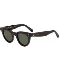 Celine Damas cl 41375-s 086 85 gafas de sol oscuras Habana