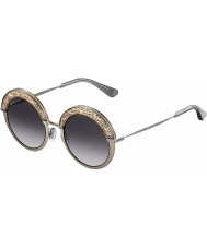 Jimmy Choo Señoras gotha-s 68i 9c 50 gafas de sol de paladio desnudos