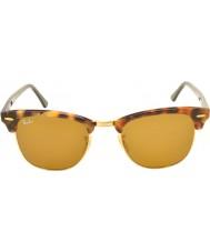 RayBan RB3016 51 manchado clubmaster Habana 1160 gafas de sol marrones