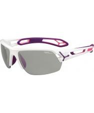 Cebe S-pista gafas de sol medianas Perfo variochrom púrpura blanco