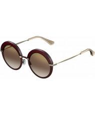 Jimmy Choo Señoras gotha-s 65L qh gafas de sol de espejo burdeos oro