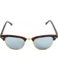RayBan RB3016 51 clubmaster arena concha-oro de las gafas de espejo de plata 114530