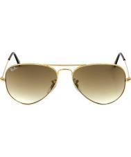 RayBan RB3025 58 aviador de oro grande de metal 001-51 gafas de sol