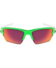 Oakley Oo9188-43 flak 2.0 xl desvanecimiento verde - las gafas de sol de campo prizm