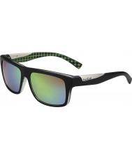 Bolle Clint mate cal negro polarizado gafas de sol marrones de esmeraldas
