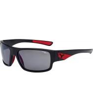 Cebe Whisper mate negro gris rojo 1500 gafas de sol de espejo polarizado de flash