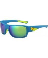 Cebe Whisper azul mate, cal 1500 espejo flash gris gafas de sol verdes