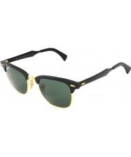 RayBan gafas de sol polarizadas Rb3507 51 de aluminio clubmaster Arista negro 136-N5