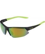 Bolle cal negro gafas de sol esmeralda de color marrón mate Breakaway
