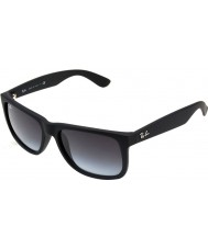 RayBan Rb4165 55 Justin caucho negro gafas de sol 601-8g