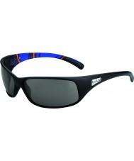 Bolle Retroceso mate rayas azules modulador gafas de sol polarizadas grises