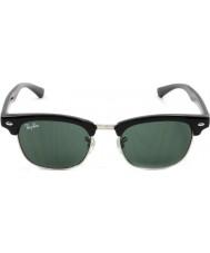 RayBan Junior Rj9050s 45 Clubmaster gafas de sol negras 100-71