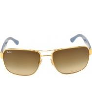 RayBan Rb3530 58 highstreet 001-13 gafas de sol de la pendiente del oro
