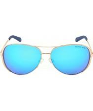 Michael Kors Mk5004 59 Chelsea oro rosa 100325 azul refleja las gafas de sol