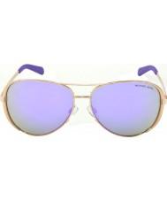 Michael Kors Mk5004 59 Chelsea oro color de rosa púrpura gafas de espejo 10034v