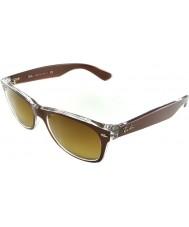 RayBan RB2132 52 nueva tapa caminante cepillado marrón en gafas de sol transparentes 614585